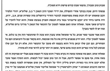 סוחר פאות הרב בצלאל בלוי בראיון לרב יקותיאל פיש.